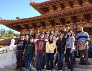 University of La Verne students at Hsi Lai