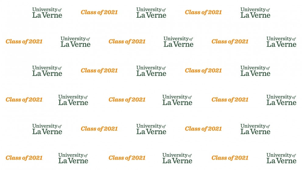 Virtual Commencement Background Class of 2021 (White)