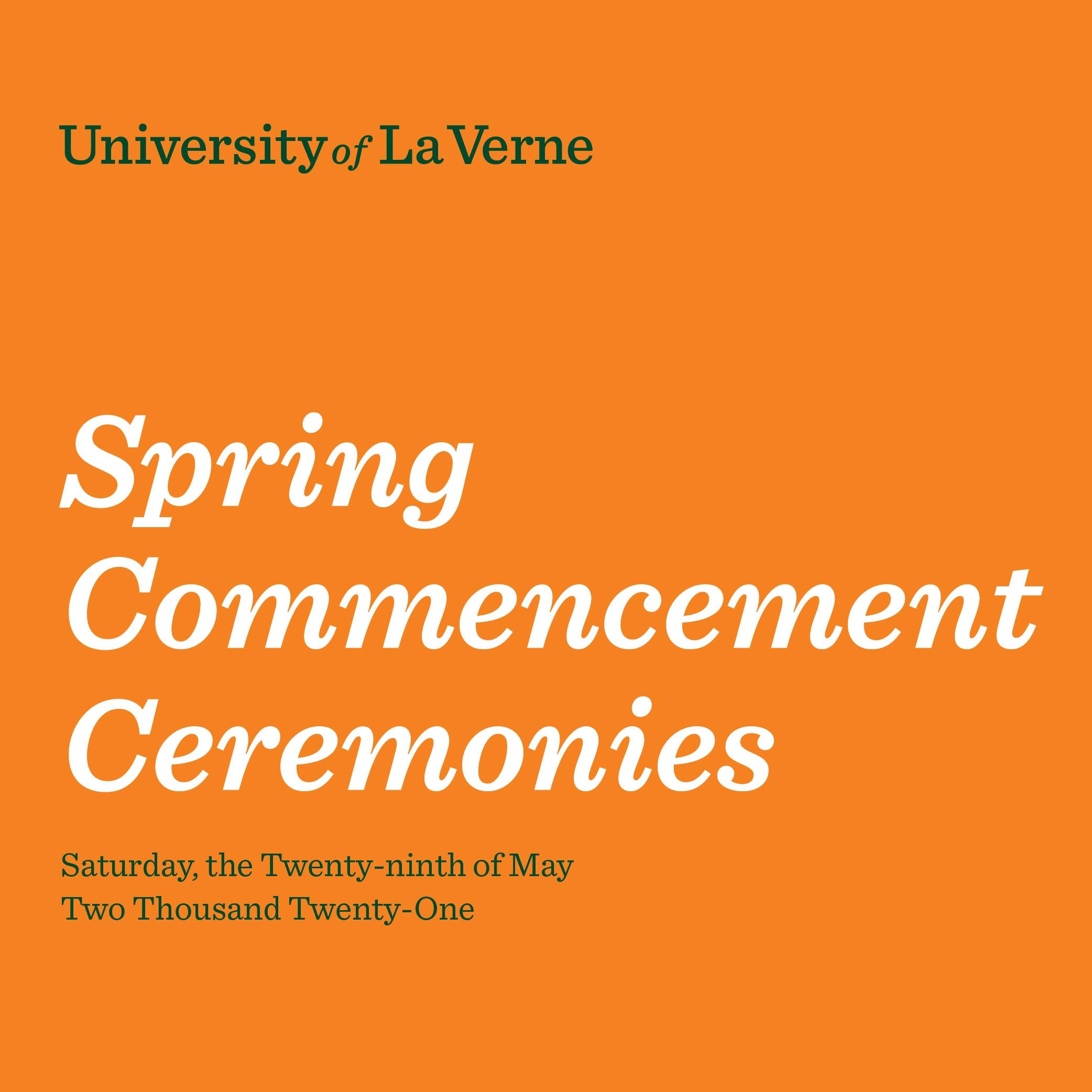 2021 Spring Commencement Program