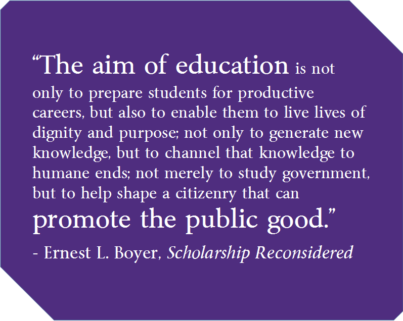 Ernest L Boyer, Scholarship Reconsidered
