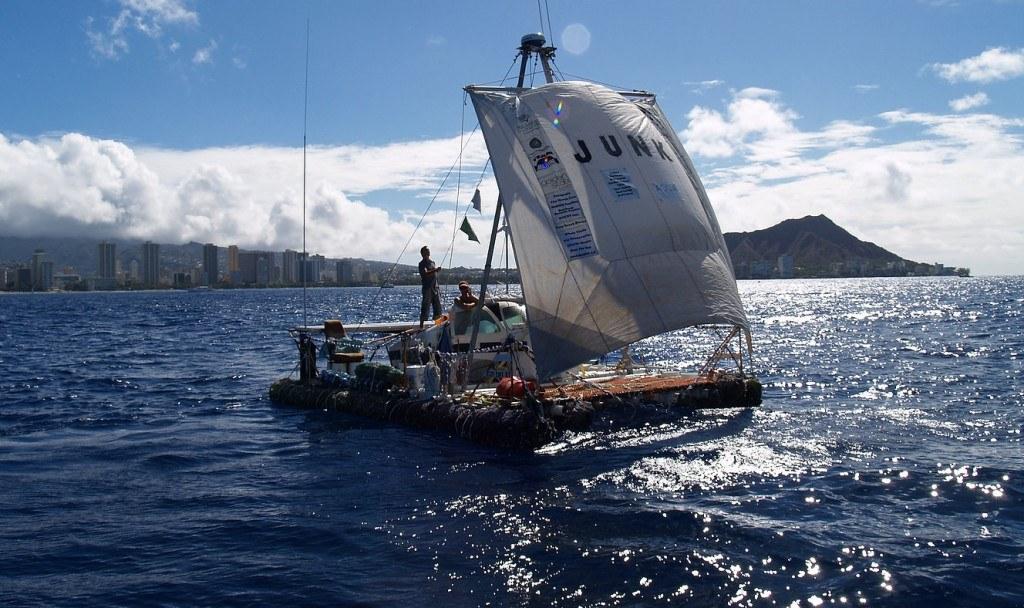 Marcus Eriksen Junk Raft