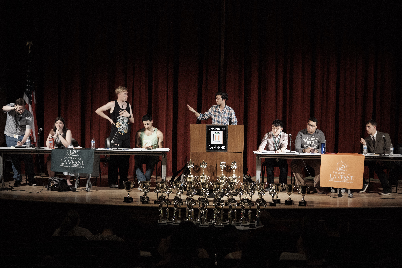 ULV Debate Team with their trophies