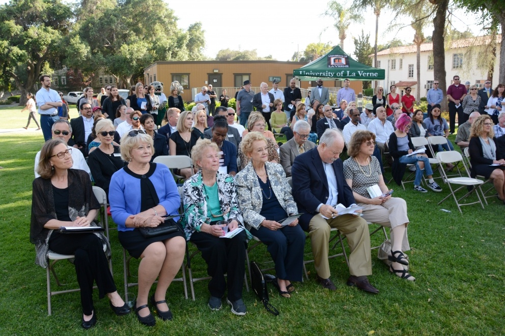 Attendees at the Ludwick Center Groundbreaking