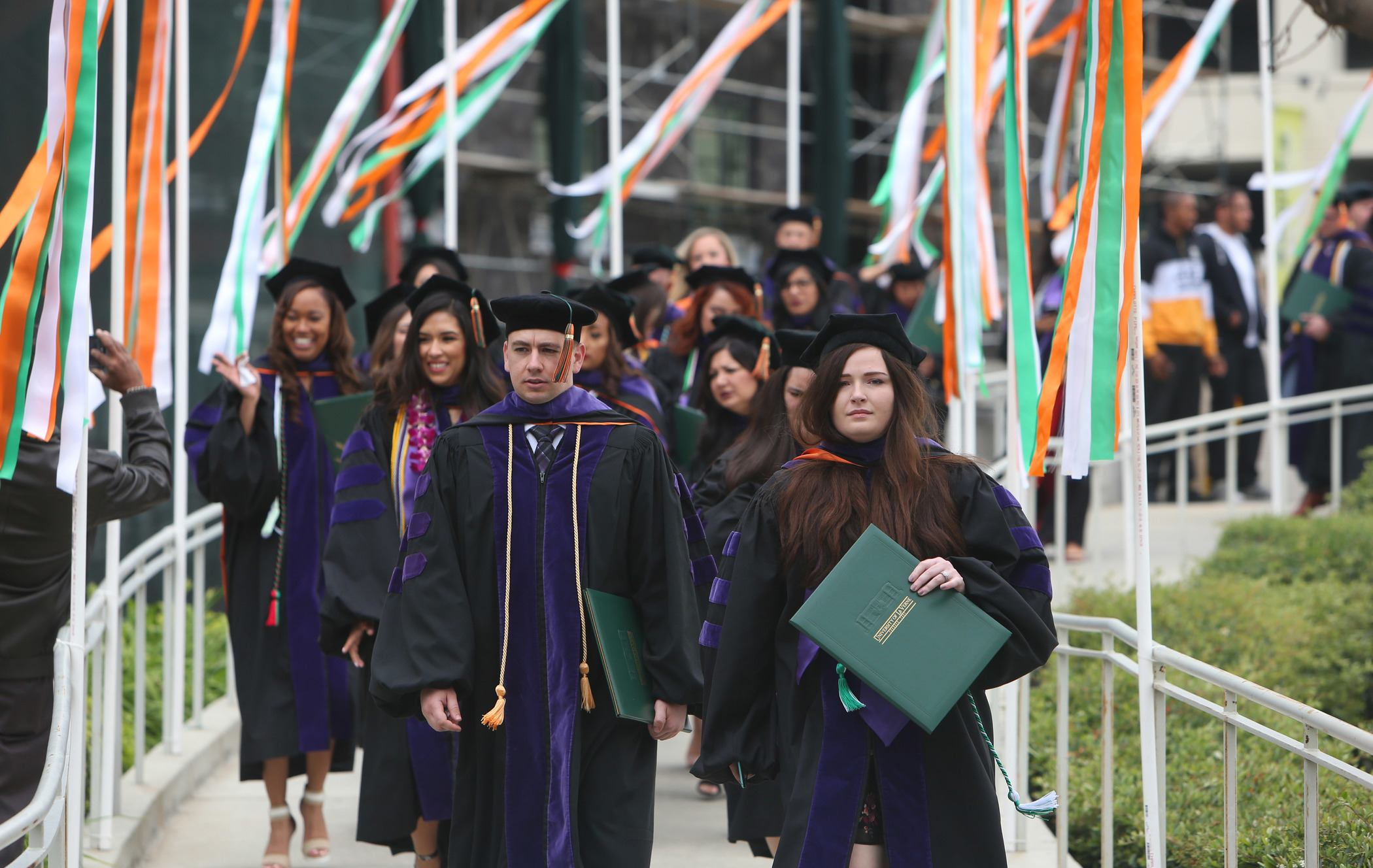 Students participate in the College of Law Commencement ceremony.