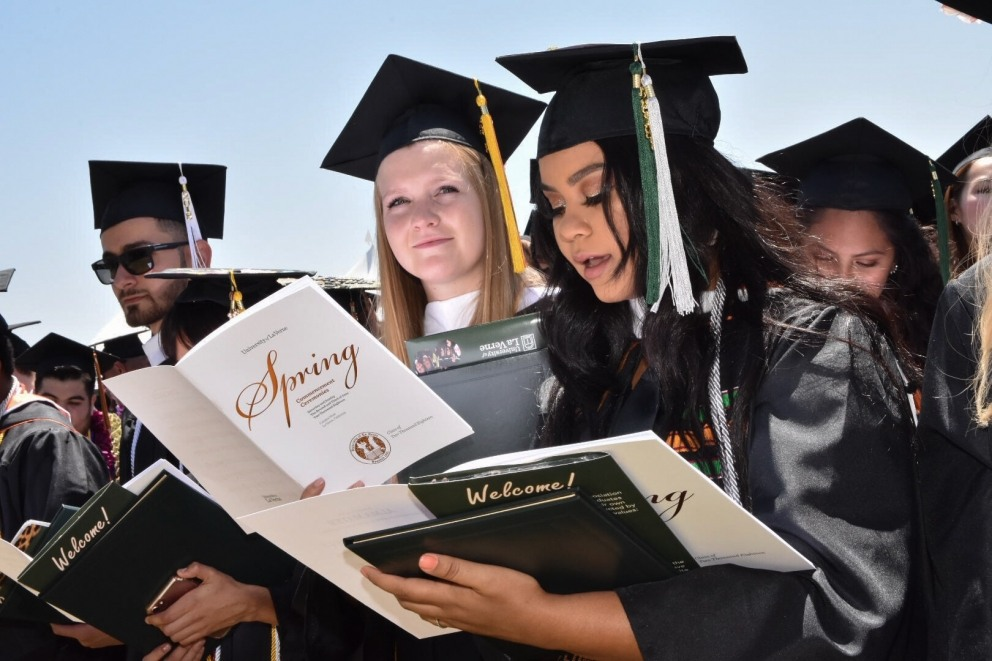 Students participating at the 2018 Commencement ceremonies