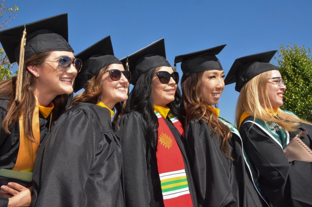 Graduates at the 2018 Commencement Ceremony