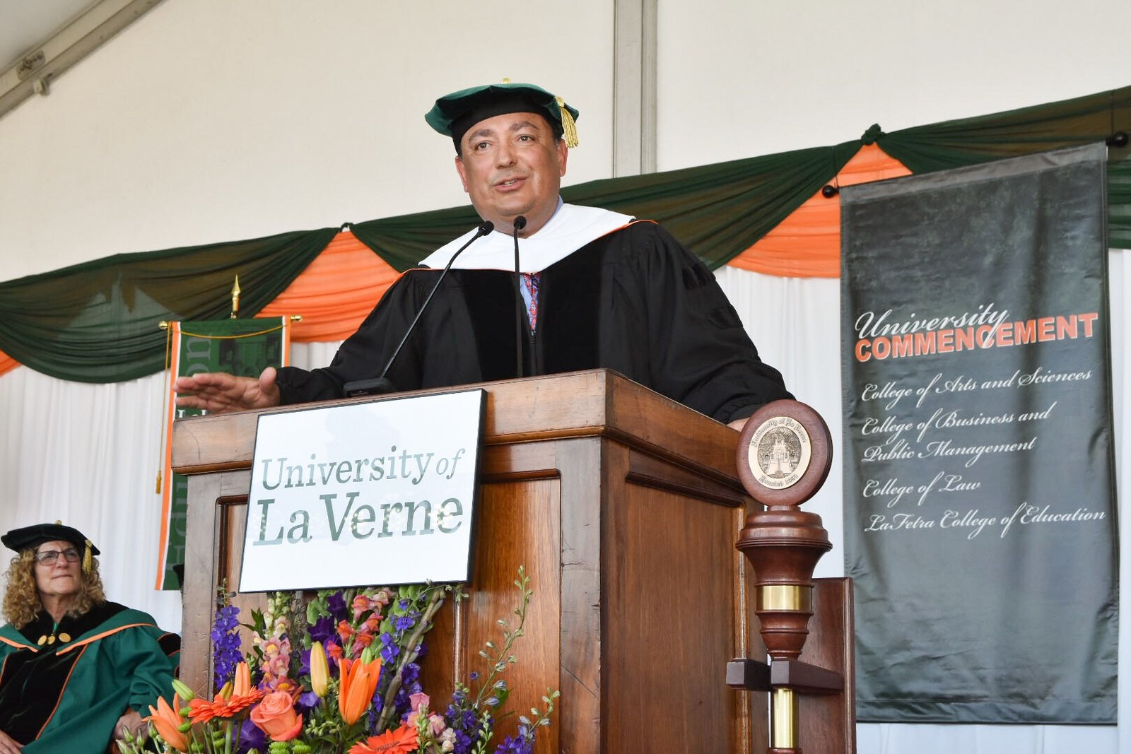 Houston Police Chief Art Acevedo gives the University of La Verne's 2018 commencement address.