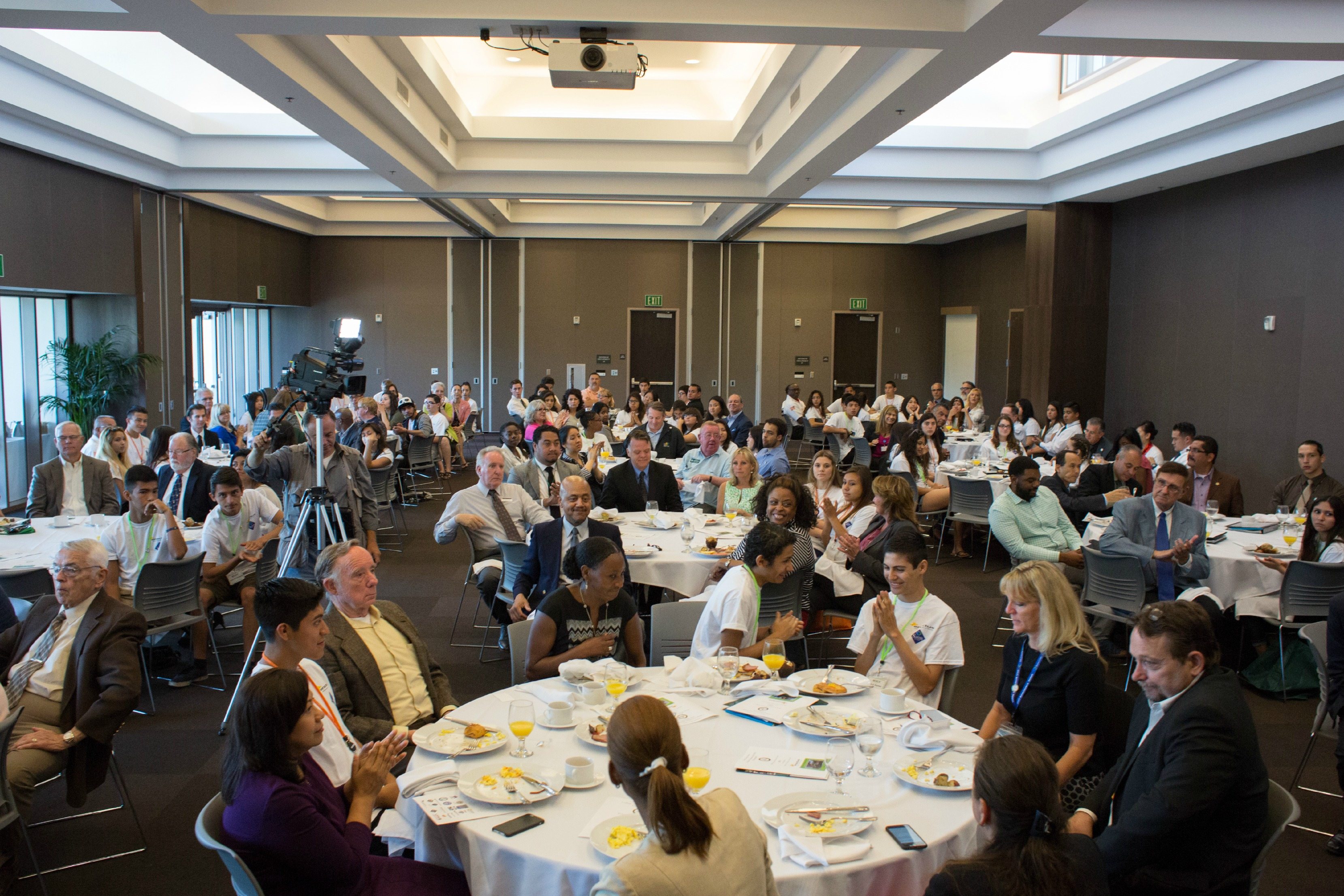 Participants at the REACH breakfast event.