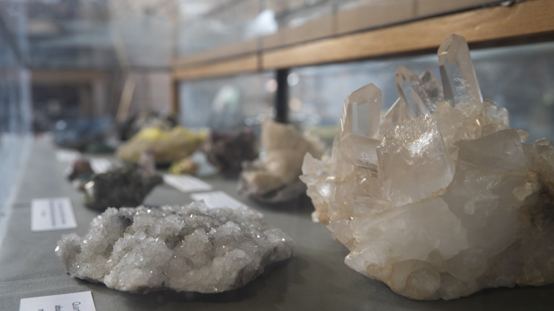 Quartz samples are among the pieces from the University of La Verne's Cultural & Natural History Collections on display as part of an exhibit at the L.A. County Fair.