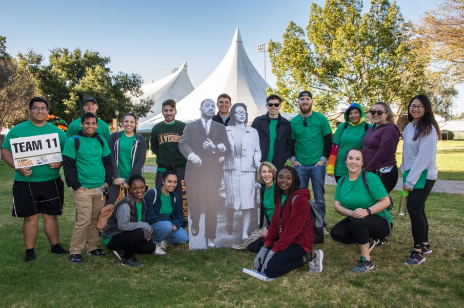 Students gather on ULV campus for MLK Day of Service