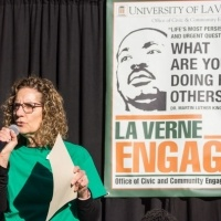 President Devorah Lieberman speaks at MLK Day of Service