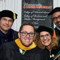 Professors with keynote speaker