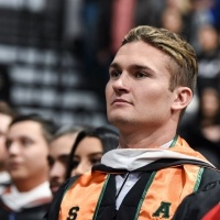 Male student at commencement