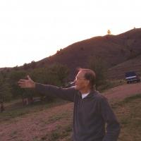 Professor Bob Neher on the ranch