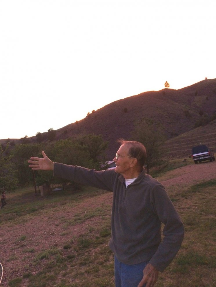Professor Bob Neher on the ranch