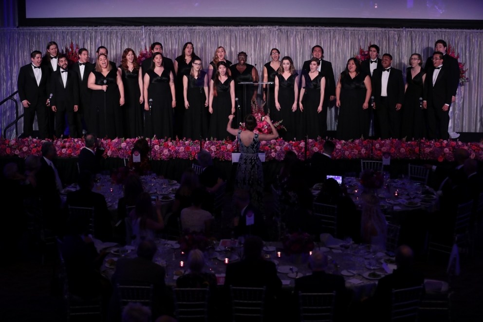 The Univerisyt of La Verne Choir sings at the annual Scholarship Gala.