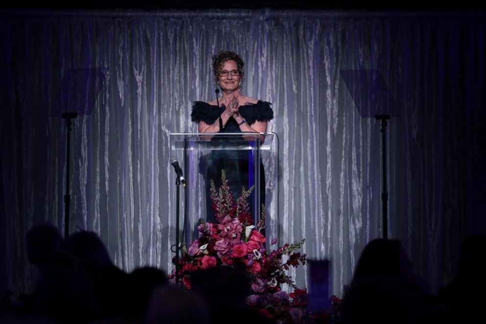 University President Devorah Lieberman at the Scholarship Gala.