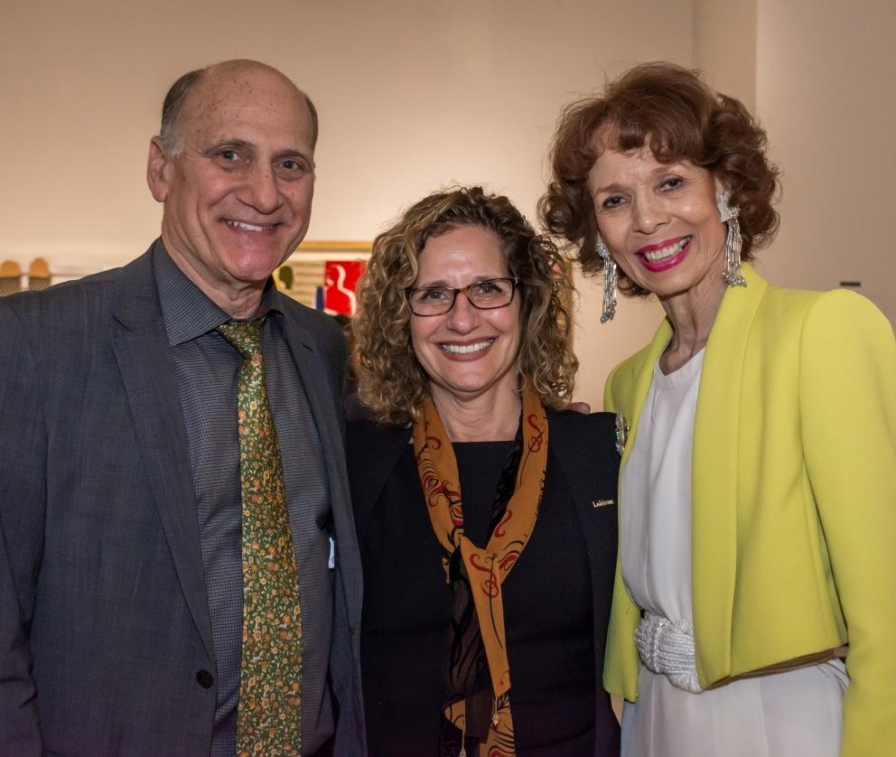 NBC Universal Steve Nissen smiles with Devorah Lieberman and Phoebe Besaley.
