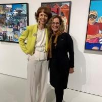 Artist Phoebe Beasley and University President Devorah Lieberman.