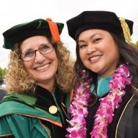 Devorah Lieberman with graduate student speaker