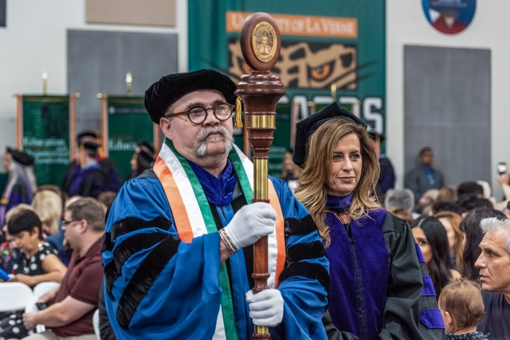 Graduation procession.