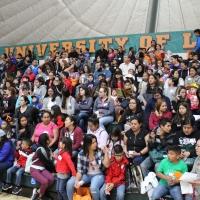 Students fill gymnasium at Learning Conference