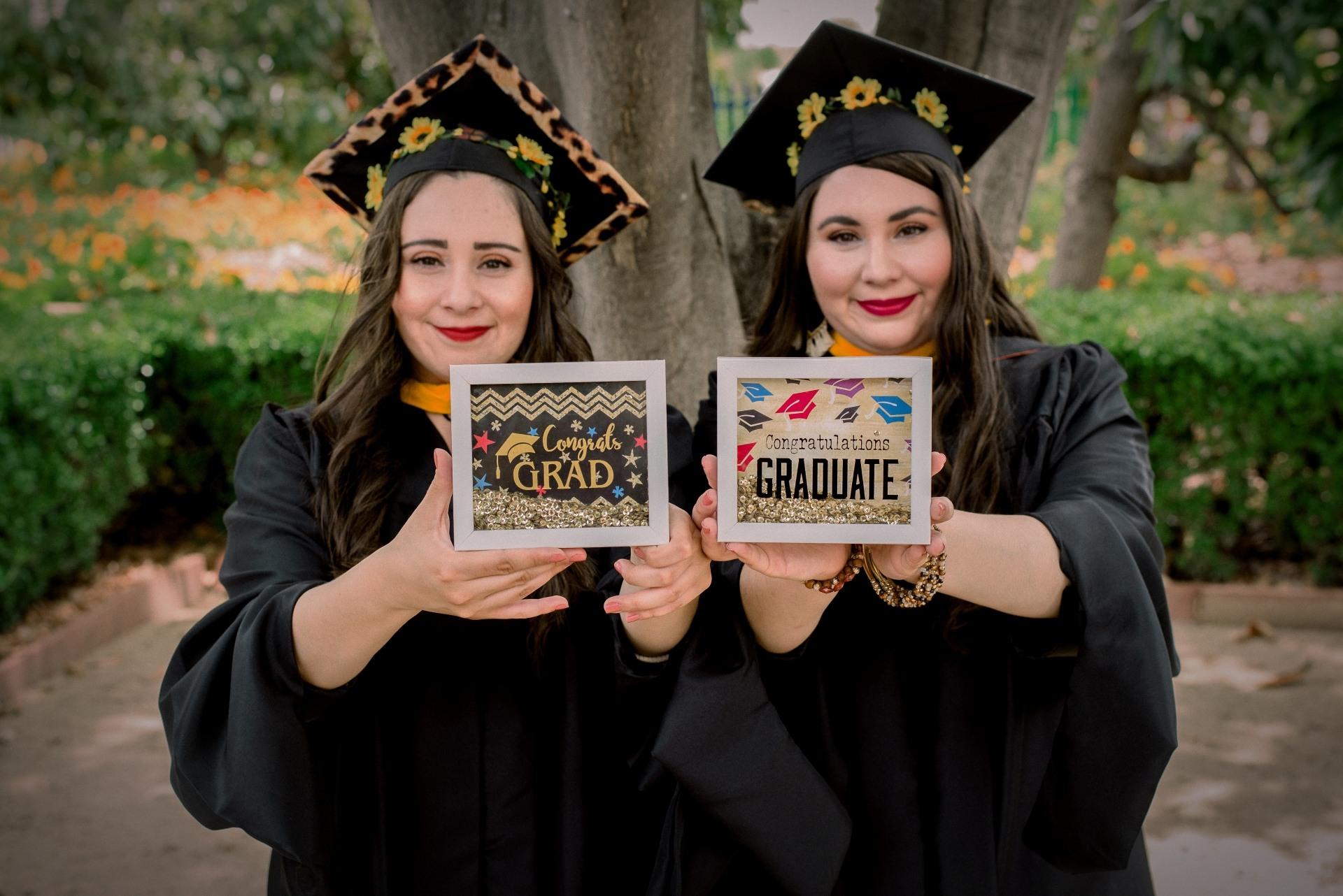 Angela and Stephany celebrate graduation