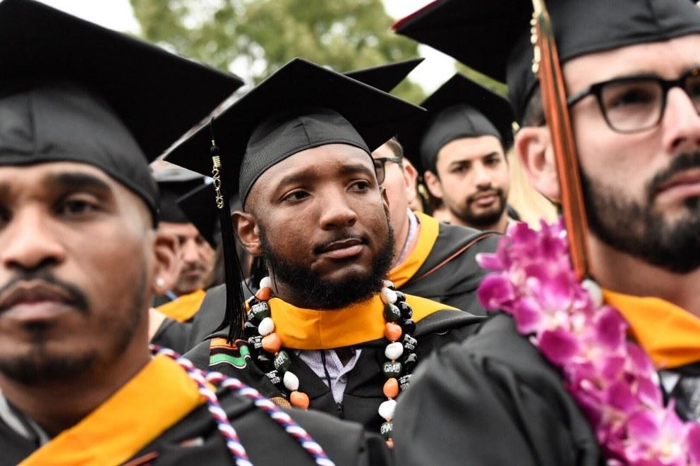 Graduates in the stadium