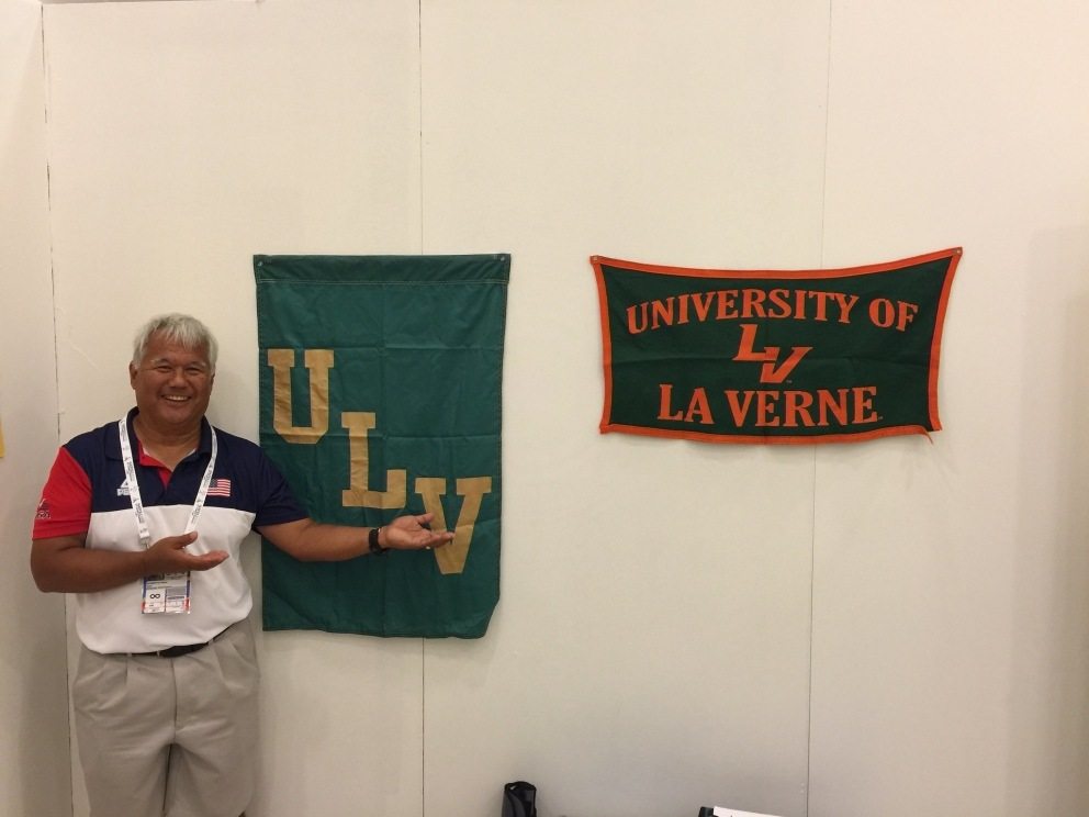 Paul Alvarez with ULV sign
