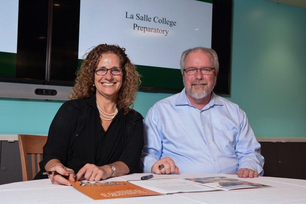 University President Devorah Lieberman with LaSalle representative