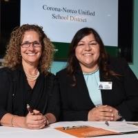 University President Devorah Liberman with Corona/Norco representative