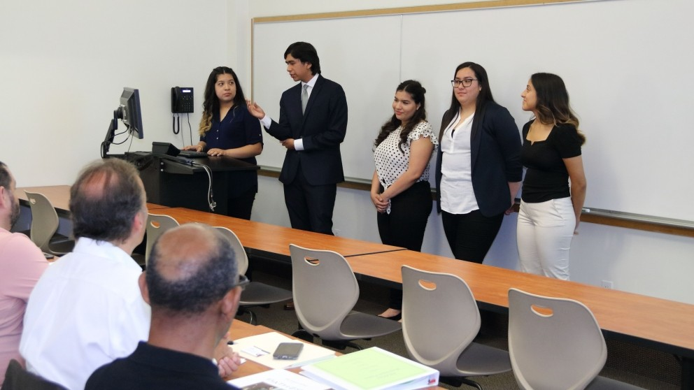 Group of Students Presenting