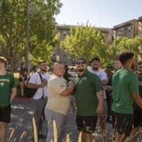 Students in line for Move-In Day