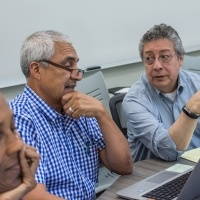 Faculty members collaborate