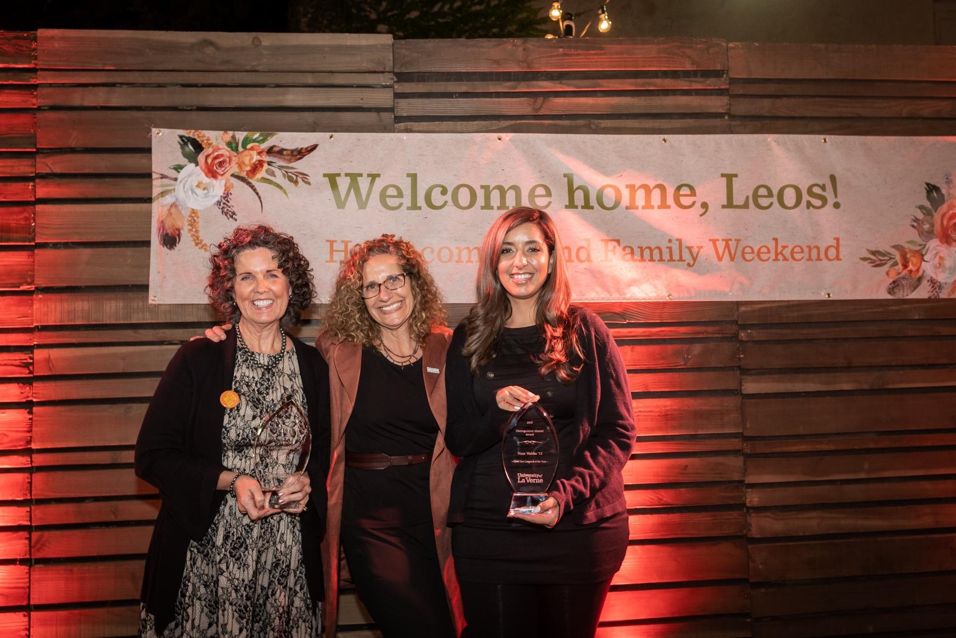 Devorah Lieberman with Leopards of the Year award recipients