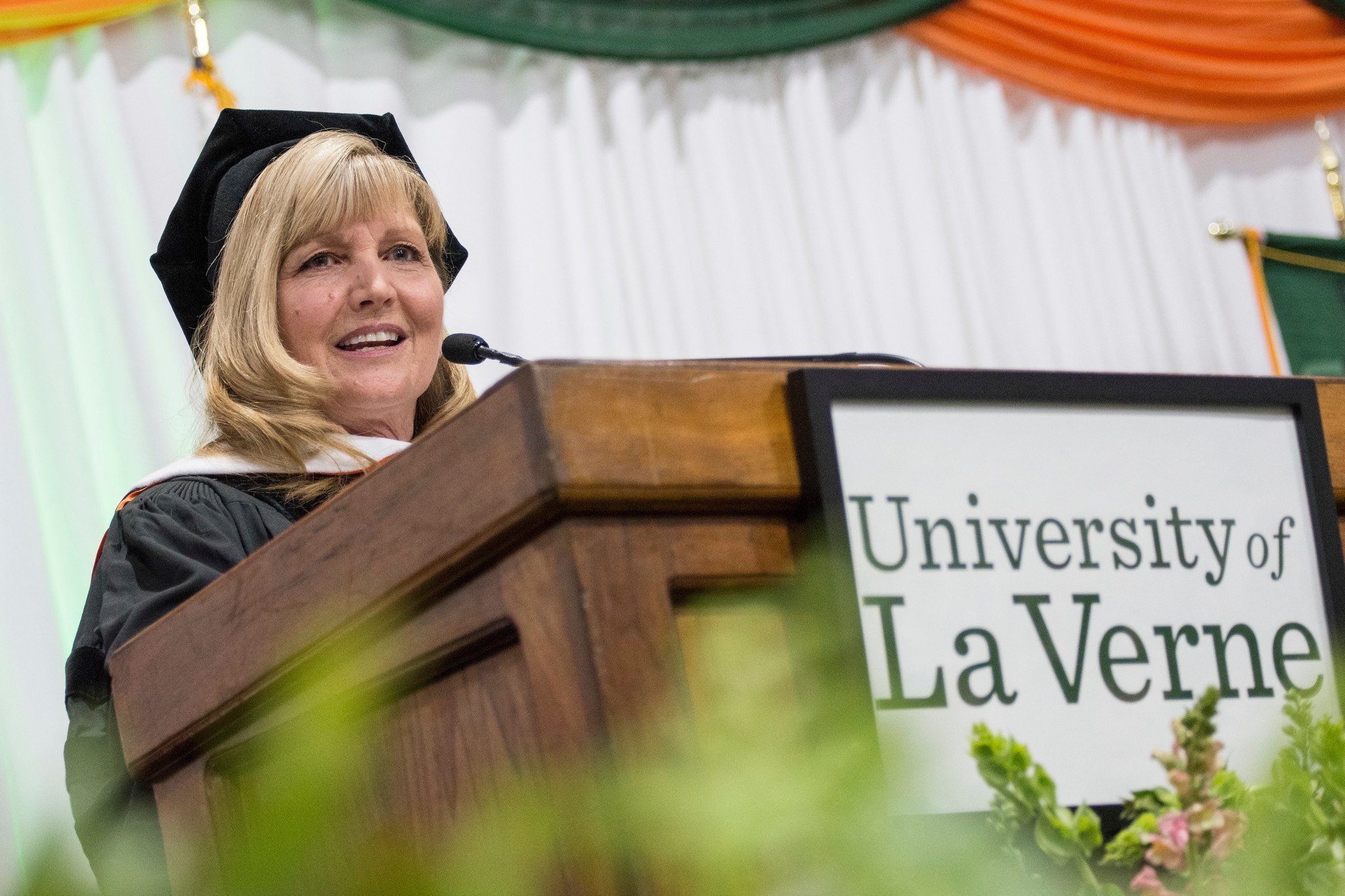 Julie Miller-Phipps at University of La Verne commencement winter 2020