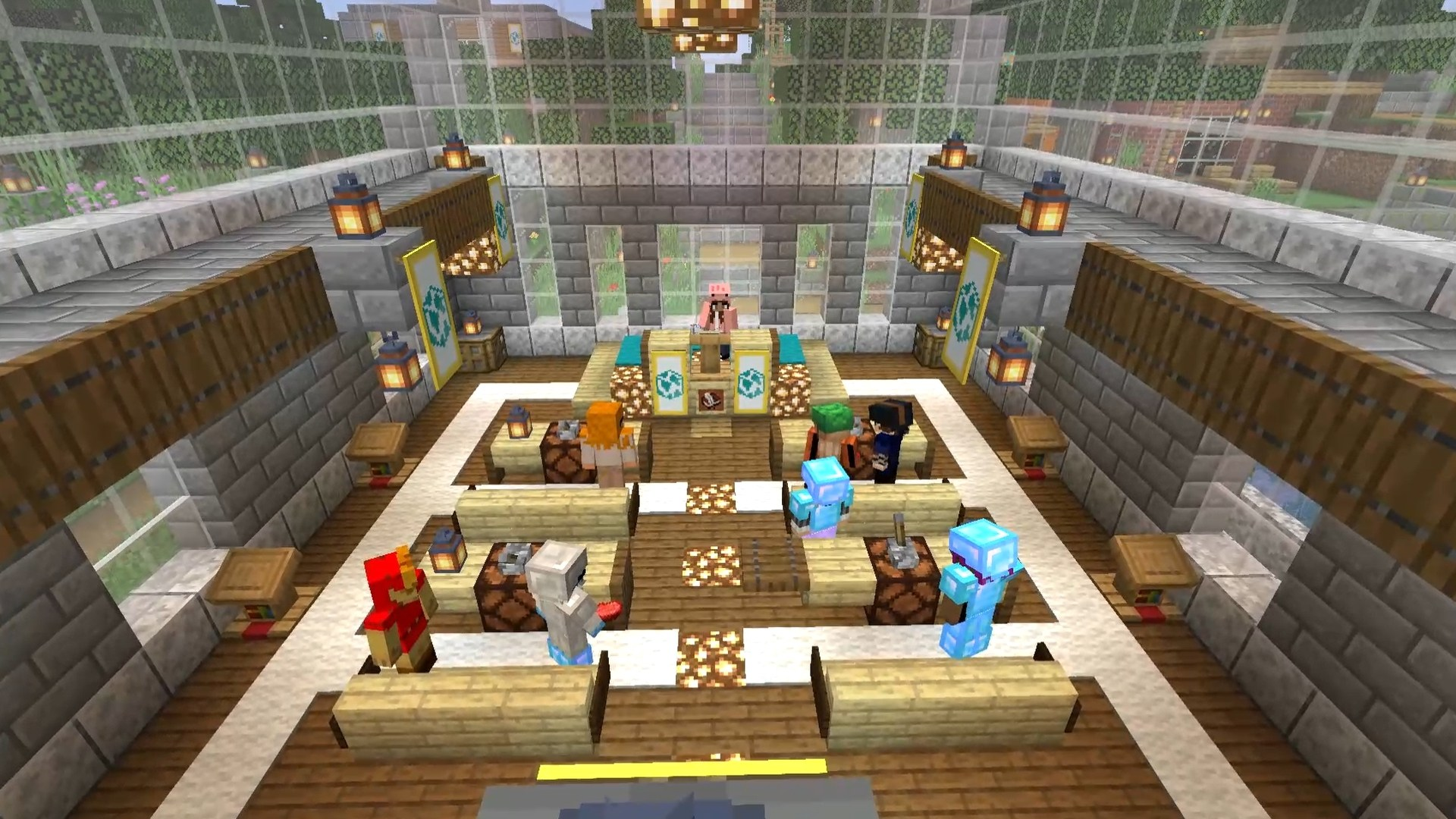 Minecraft Debate Hall