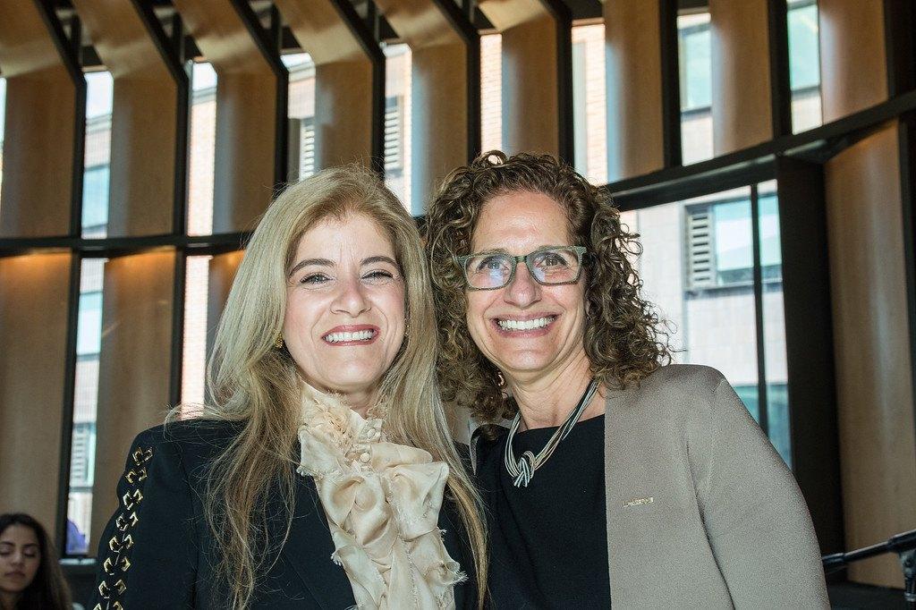 Devorah Lieberman and Lady Sohair A. Salam Saber posing in Ludwick Center.