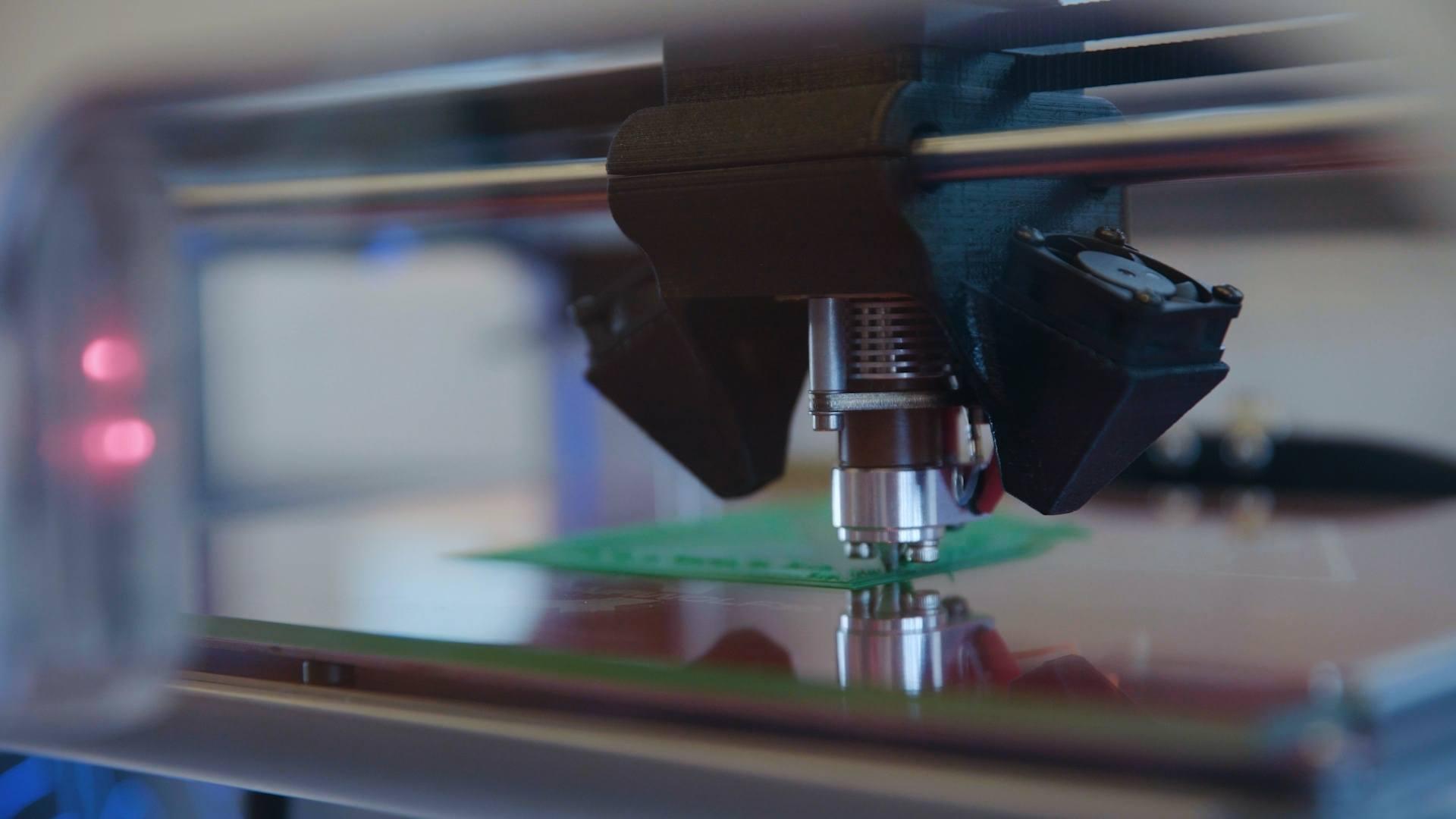 3D printer zoomed in