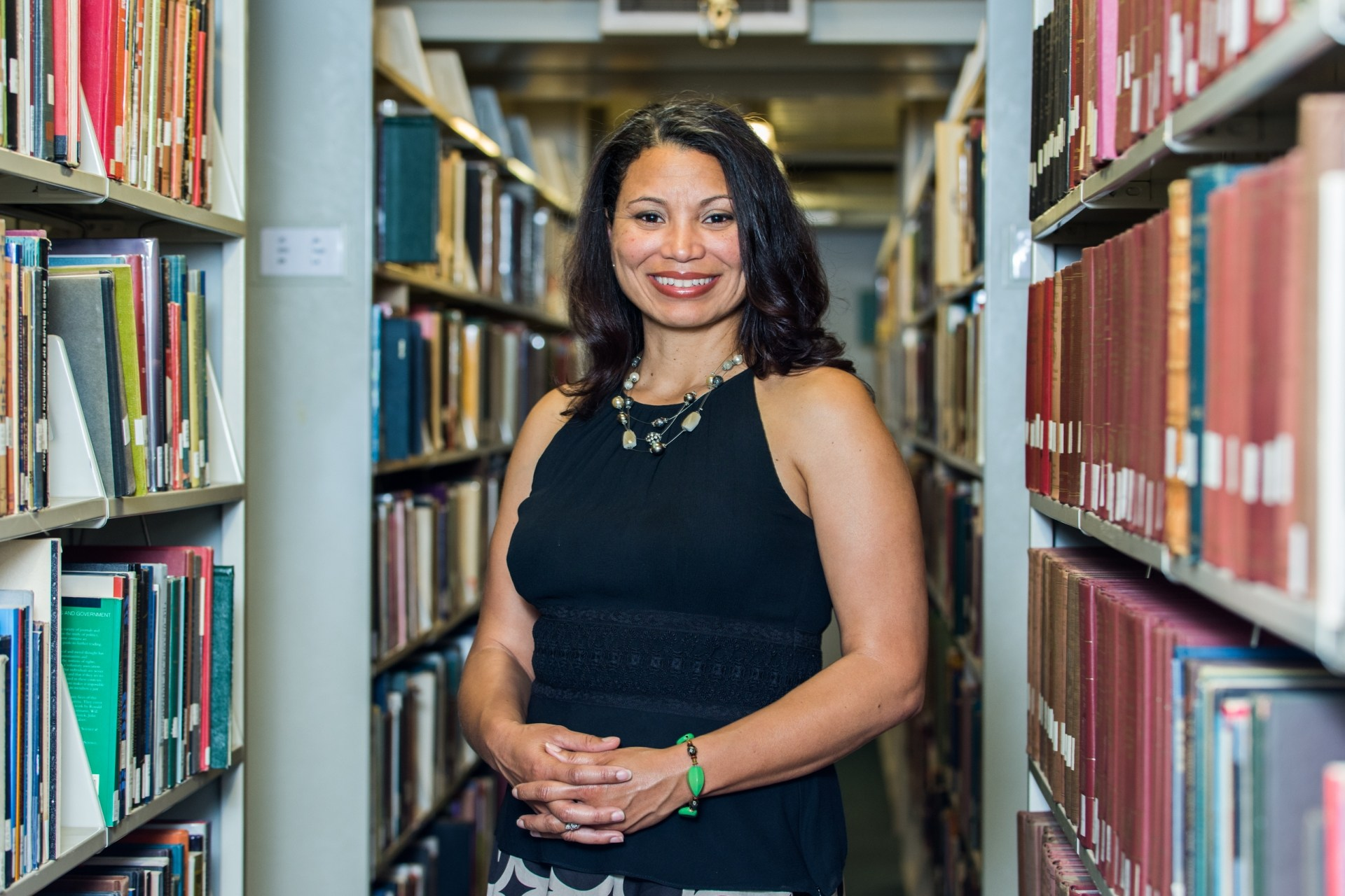 Photo of Dean Kimberly White-Smith in library