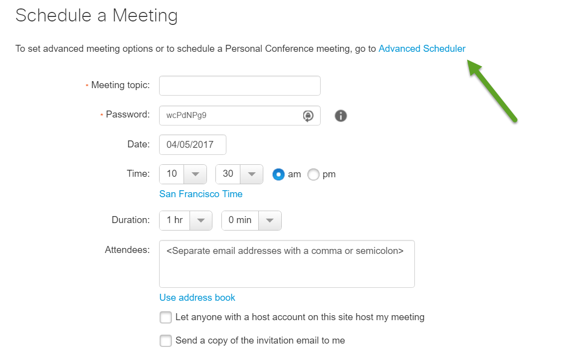 WebEx Meeting Center FAQ Office of Information Technology