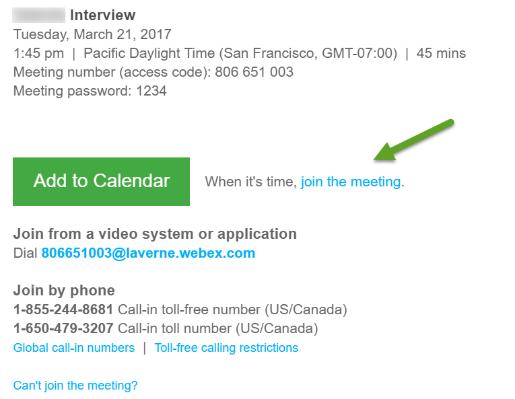 WebEx Meeting Center FAQ | Office of Information Technology