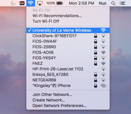 Mac OSX WiFi Settings