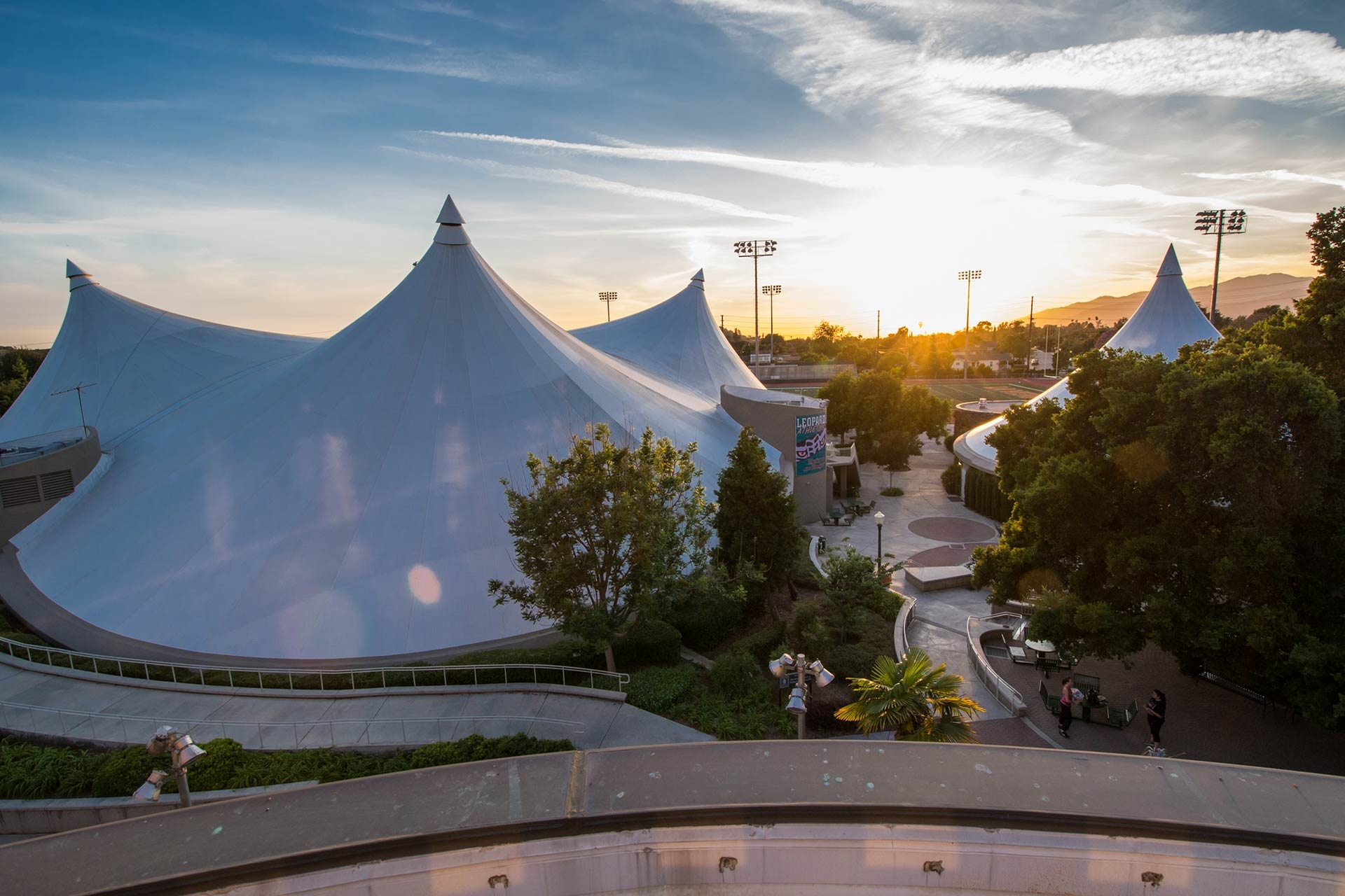 University of La Verne Athletic Pavilion - the Tents
